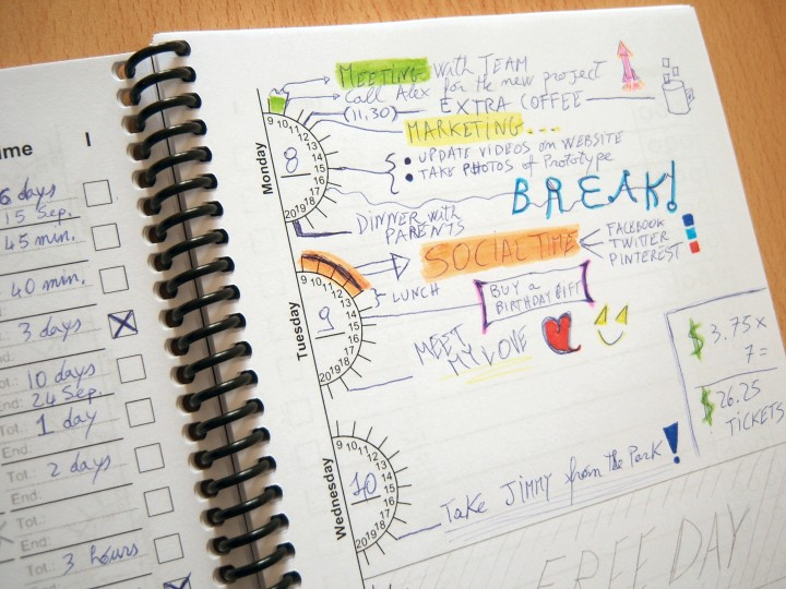 weekly diary planner